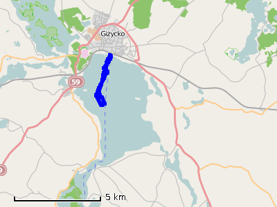 Ścieżka z pierwszego dnia (niedziela) - jezioro Niegocin