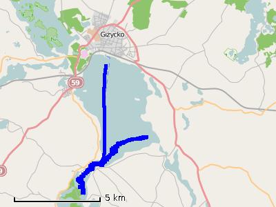 Ścieżka z drugiego dnia (poniedziałek) - jezioro Niegocin