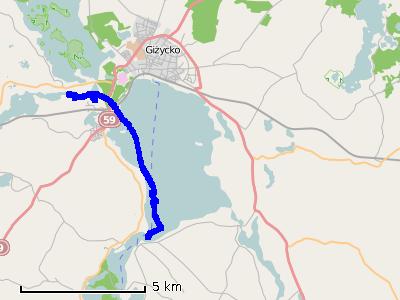 Ścieżka z trzeciego dnia (wtorek) - jezioro Niegocin i Tajty
