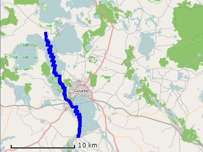 Ścieżka z piątego dnia (czwartek) - jezioro Kisajno i Niegocin