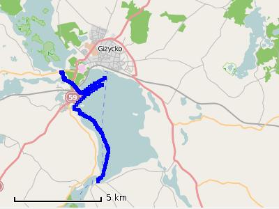 Ścieżka z szóstego dnia (piątek) - jezioro Niegocin