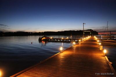 Pomost, Jezioro Boczne i zachód słońca