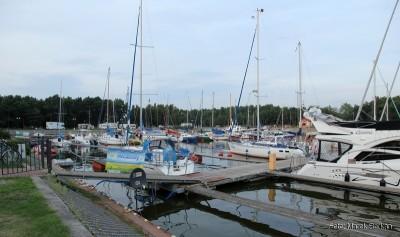 Keje portu jachtowego w Łebie
