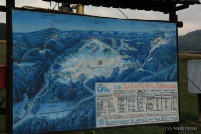 Schemat tras narciarskich przy hotelu Ski