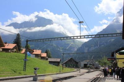 Grindelwald - dolna stacja kolejki zębatej wjeżdżającej pod Eiger