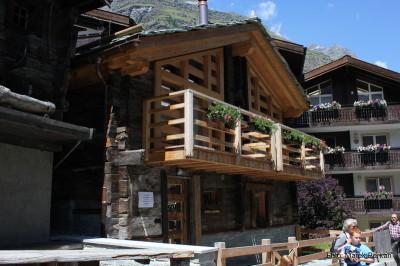 Zermatt - odrestaurane domy