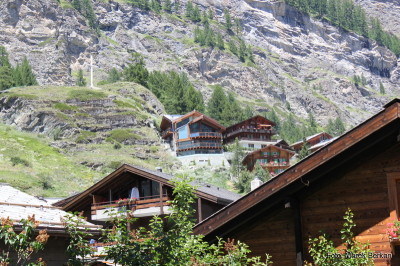 Zermatt - nowoczesne domy