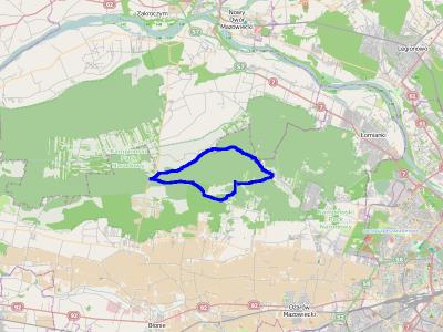 Trasa: Truskaw, Zaborów Leśny, Roztoka, Wiersze, Truskaw