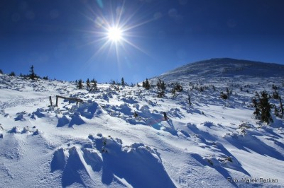 Karkonosze - zejście z grani w okolicach Przełęczy Pod Śmielcem