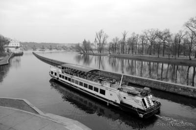 Statek wycieczkowy na Wełtawie