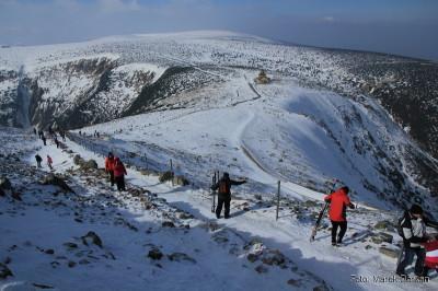 Podejście na Śnieżkę i schronisko Śląski Dom