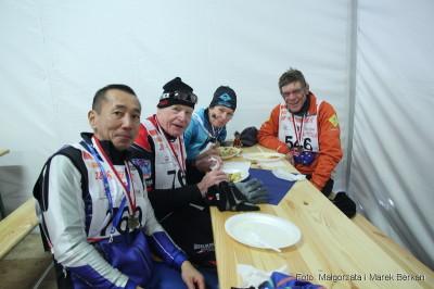 Po biegu - ekipa z... Nowej Zelandii