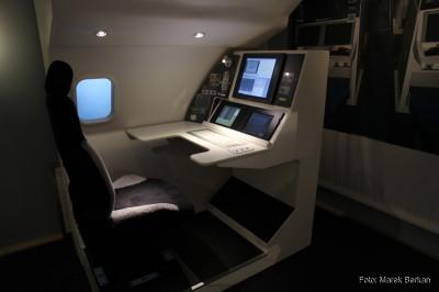 Muzeum morskie - symulator punktu obserwacji w samolocie