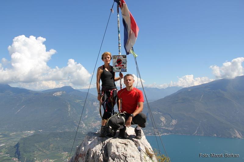 """Cima SAT (1260 m n.p.m.) - najwyższy punkt ferraty """"dell'AMICIZIA"""""""