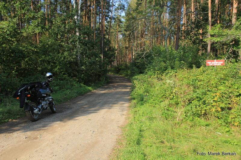 Zakręt przy miejscowości Władysławów