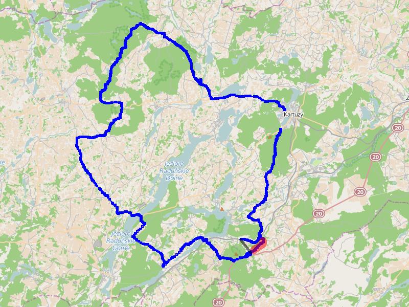 Ścieżka GPS z I. części trasy