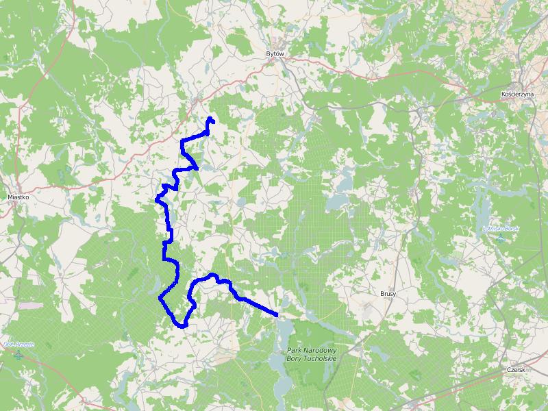 Ścieżka GPS z 2. części trasy