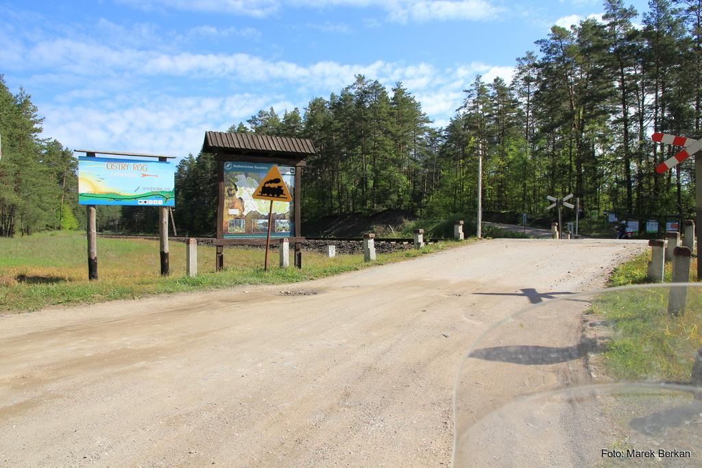 Początek trasy na granicy Augustowa