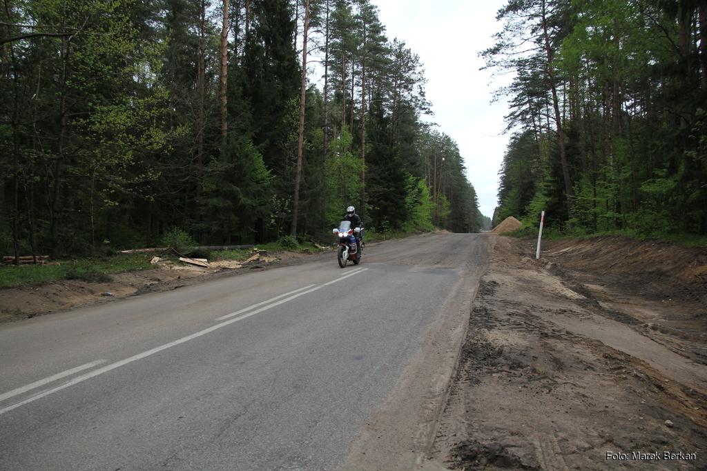 Koniec trasy koło Supraśla
