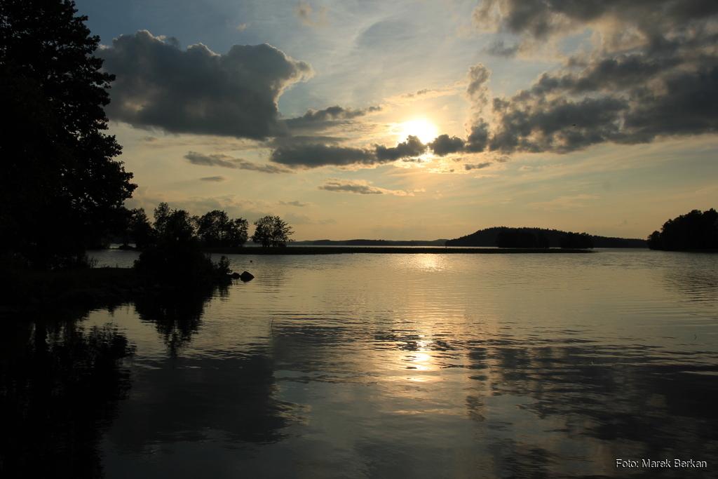 Kemping w Lahti  - zachód słońca