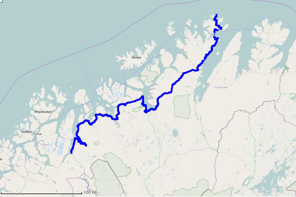 Mapa 2015-07-09 czwartek - Nordkapp