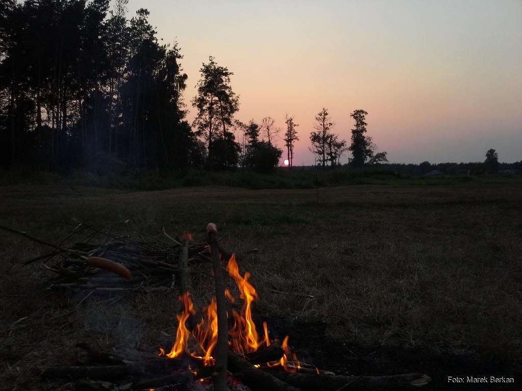 Liwiec, malowniczy zachód słońca