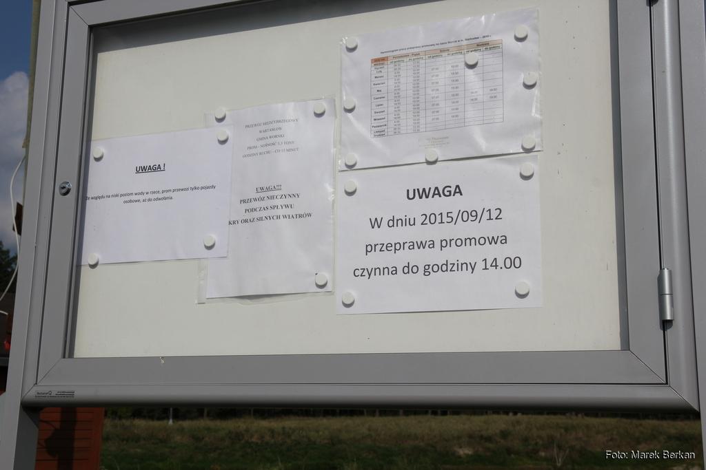 Prom w miejscowości Wartosław - tablica informacyjna