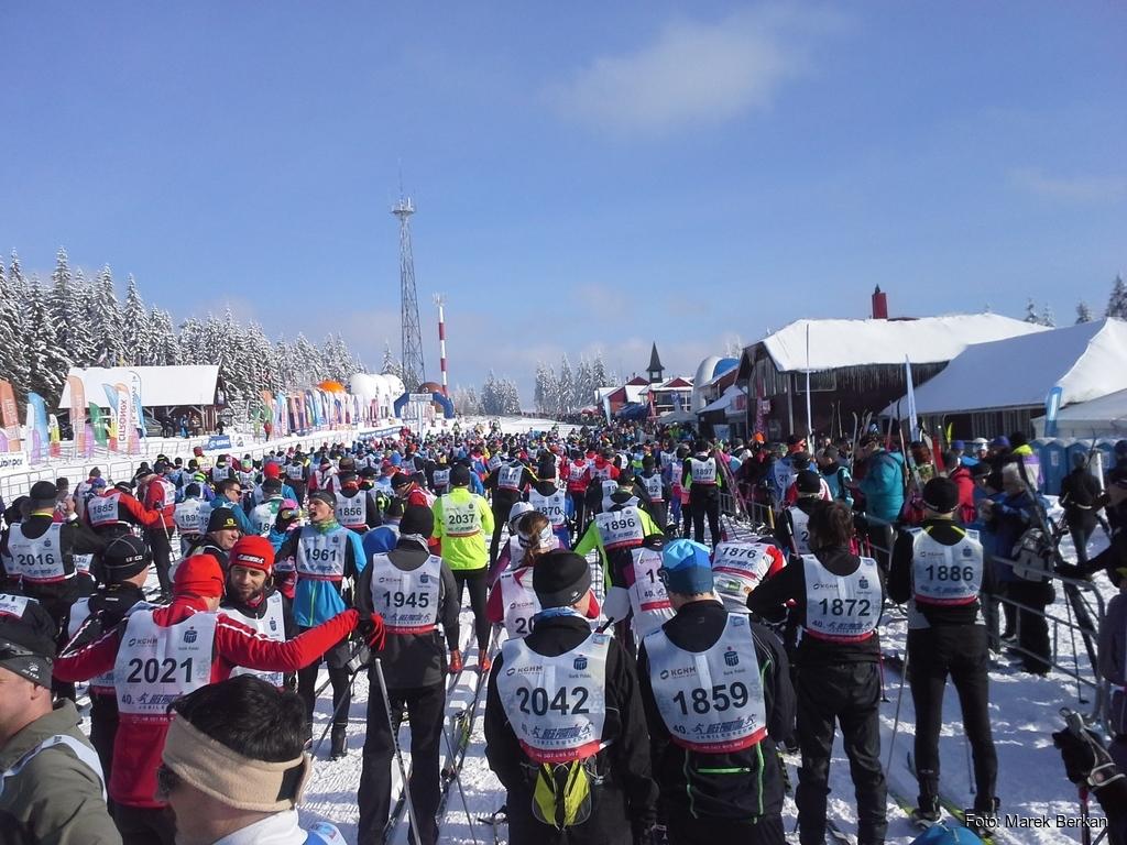 Przed startem zawodów 25 km CT