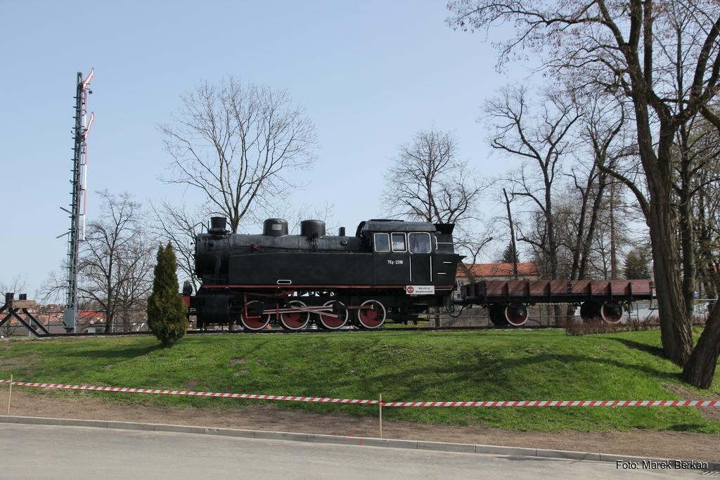 """Zabytkowa lokomotywa parowa typu TKp """"Śląsk"""""""