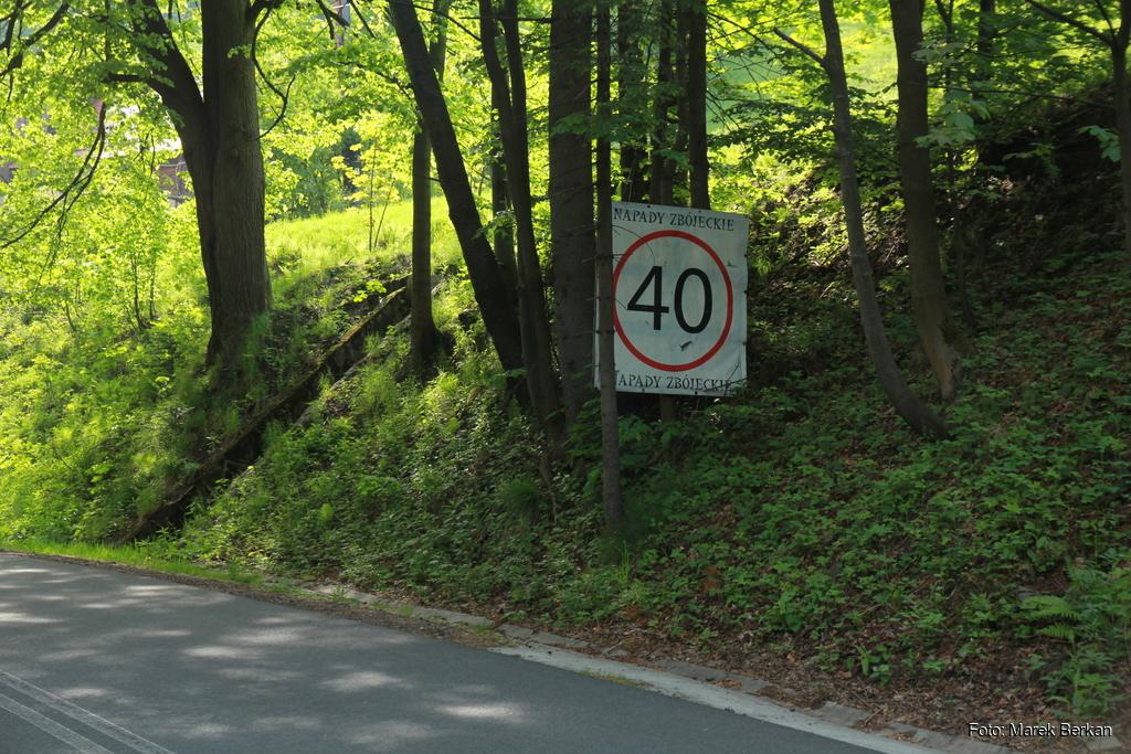 Ciekawy znak przy drodze Szczyrk - Wisła
