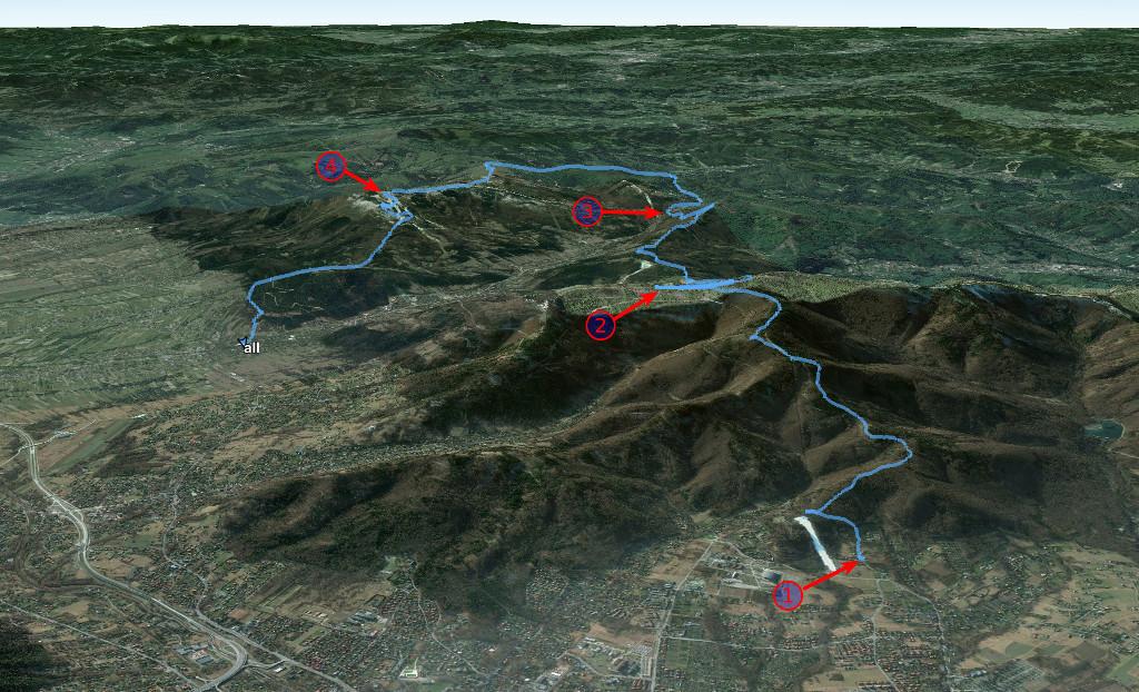 Widok trasy w Google Earth