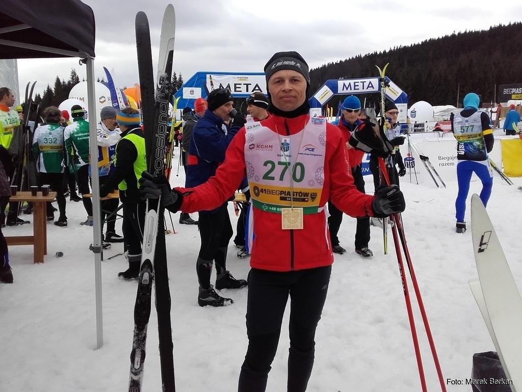 Bieg Piastów 25 km CT - meta