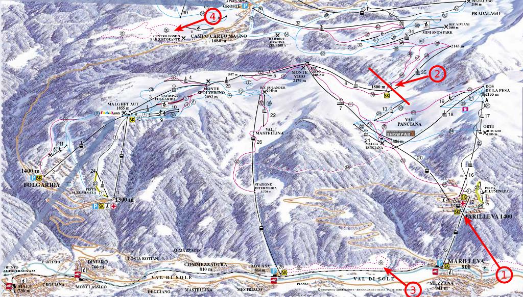 Trasy narciarskie Folgarida-Marilleva