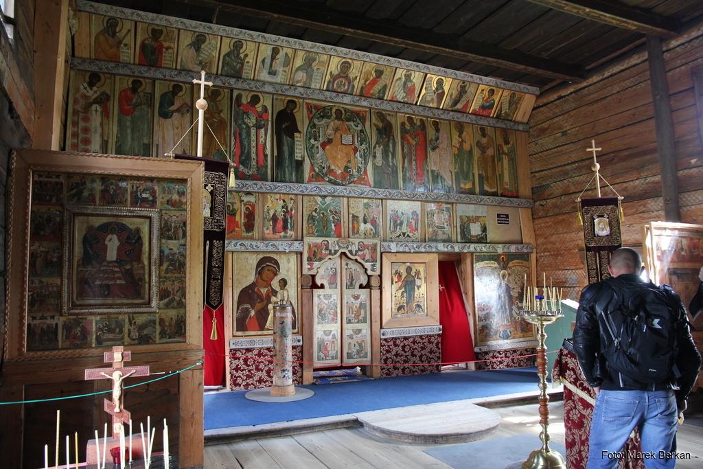Skansen Kiży: wnętrze cerkwi