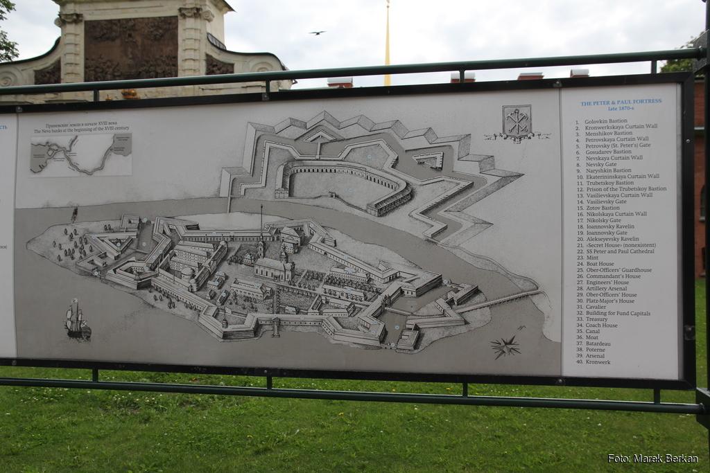 Twierdza Pietropawłowska w Petersburgu: plan
