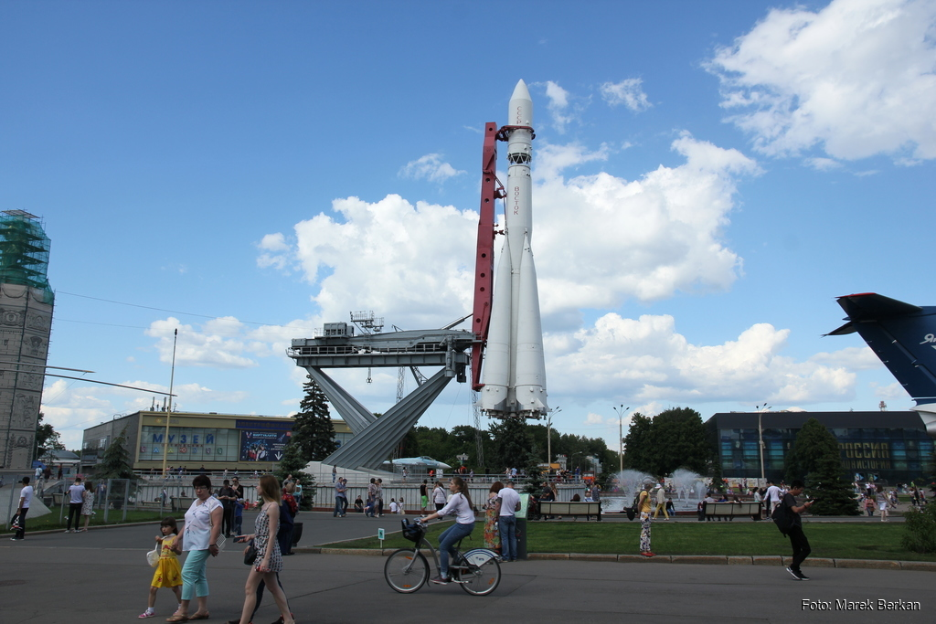 Moskwa: rakieta w parku