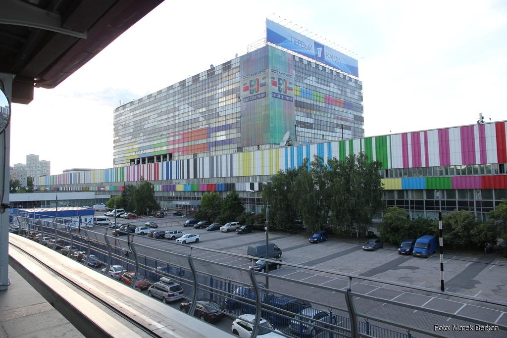 Moskwa: budynek telewizji państwowej