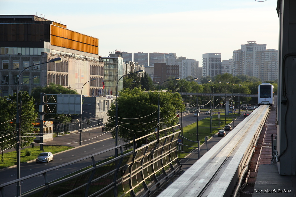 Moskwa: kolejka napowietrzna