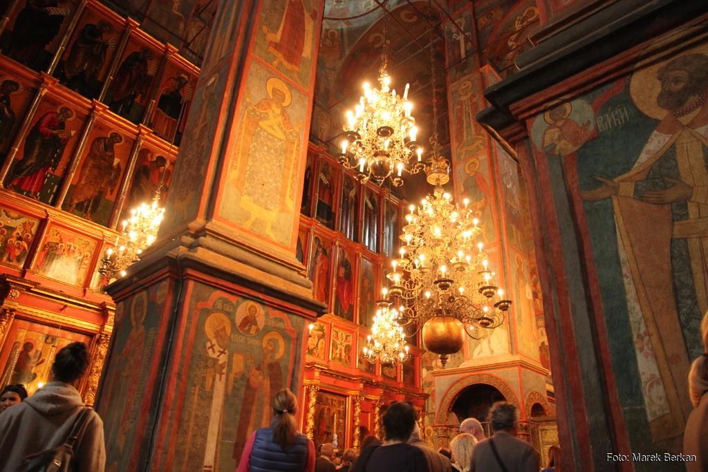 Moskwa: wnętrze Soboru na Kremlu