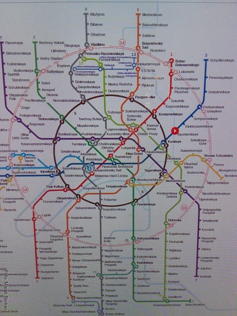 Moskwa: plan metra