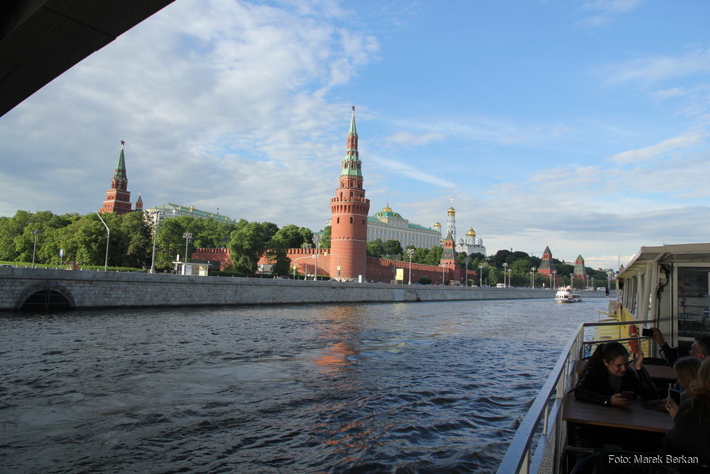 Moskwa: Kreml od strony rzeki