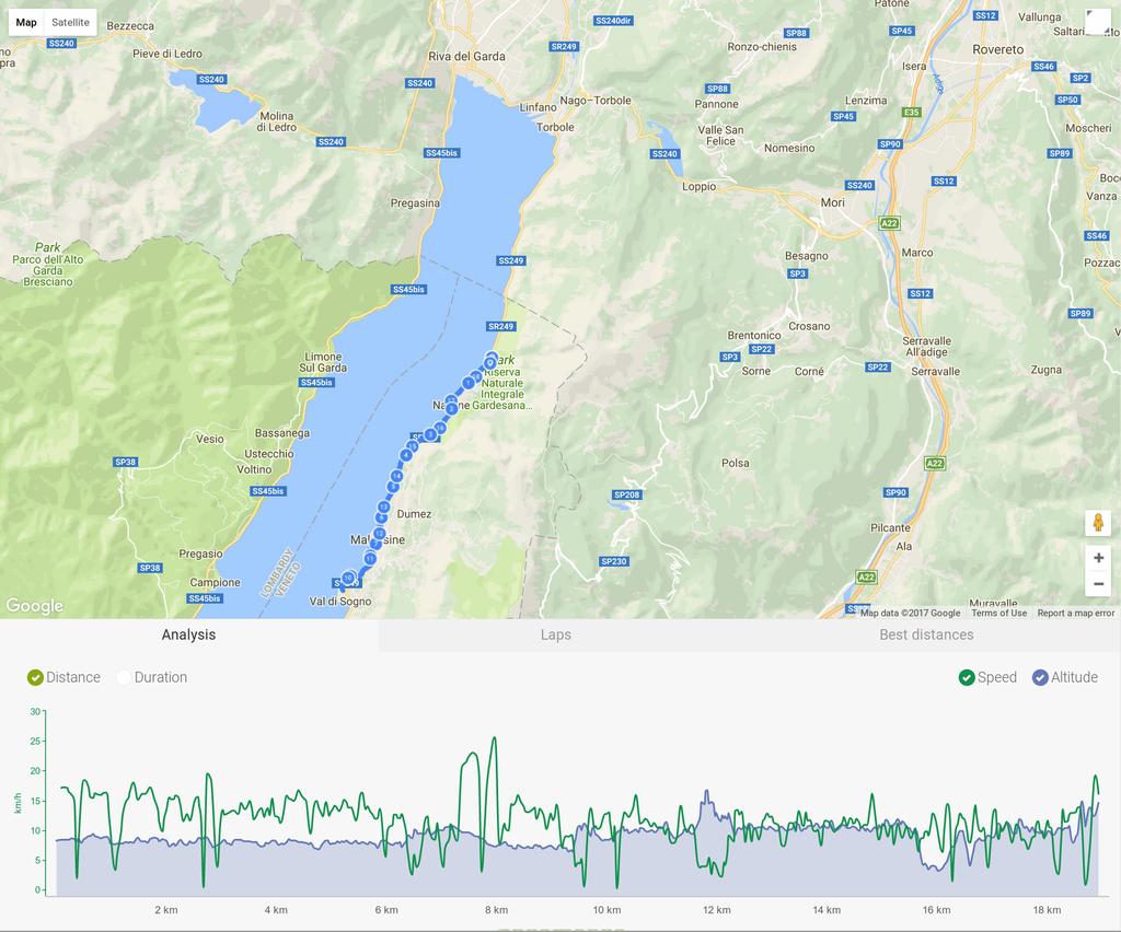 Trasa rowerowa  Navene - Val di Sogno
