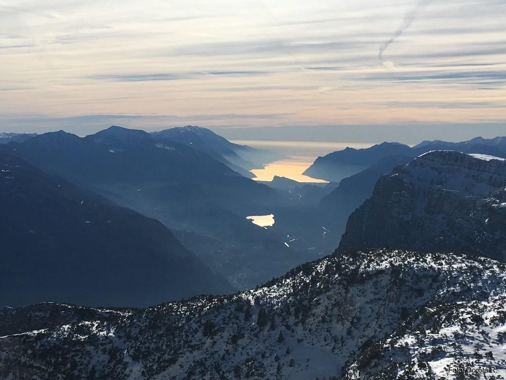 Pagenella - widok na południe, na jezioro Riva del Garda