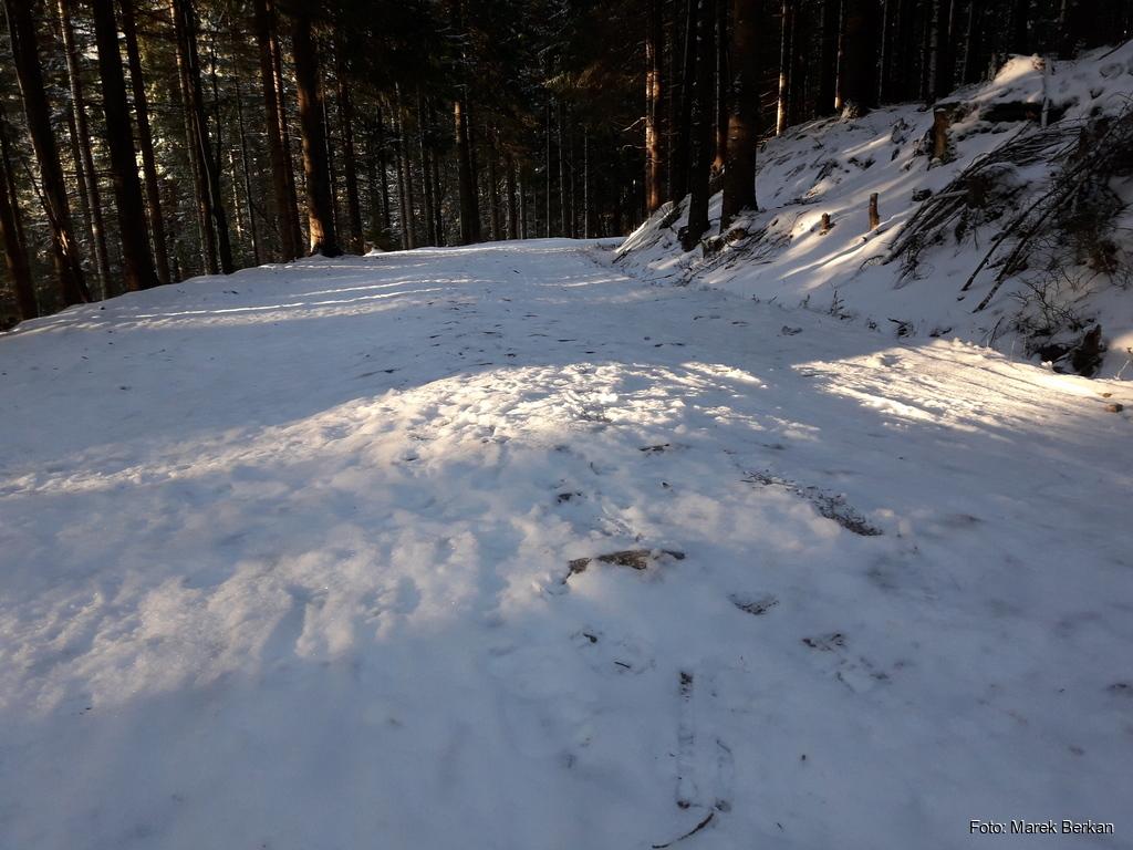Mała ilość śniegu na trasach przy Szklarskiej Porębie