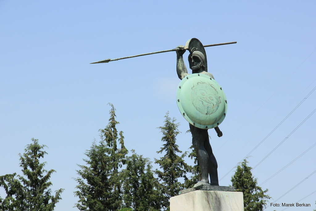 Termopile - pomnik Leonidasa