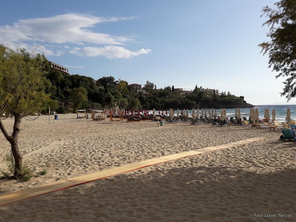 Plaża przy kempingu Kalogria