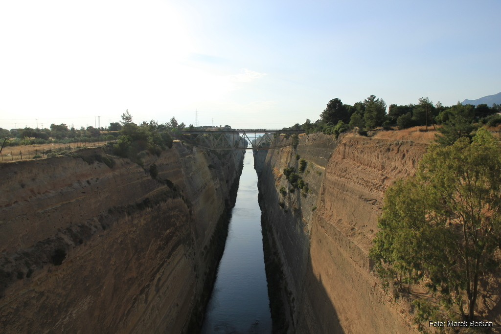 Kanał Koryncki - widok na zachód