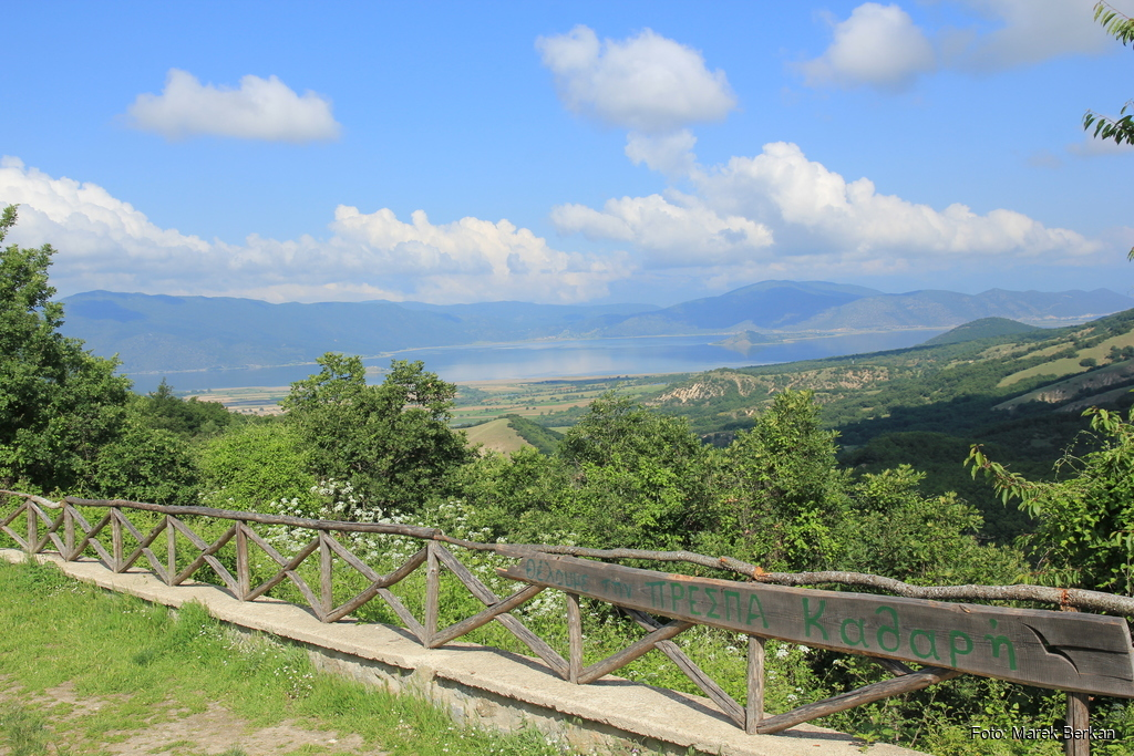 Widok na jezioro Mała Prespa