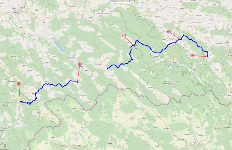 Beskid Niski - nasza trasa